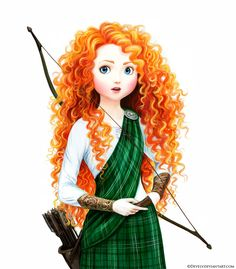 Merida the Brave by Develv.deviantart.com on @deviantART - Love the tartan on her! Is the way she's wearing it anachronistic? Yes. But it looks so cool!
