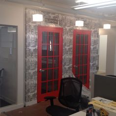 Phone booths in office space