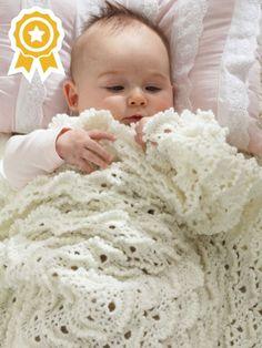 Fluffy Meringue Blanket | Yarn | Free Knitting Patterns | Crochet Patterns | Yarnspirations
