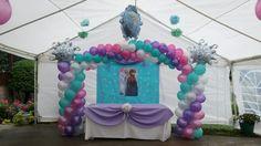 Tema de Frozen Arco de globos/ Frozen theme balloon arch