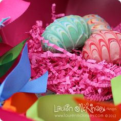 delicious and cute easter truffles by KB Kakes that coordinate with the Lauren McKinsey easter and spring collection!  http://tinyurl.com/883g2jq