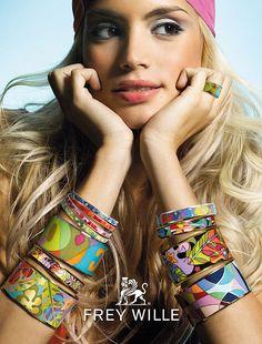 Frey Wille happy, vivid colored enamel Jewelry