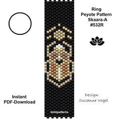 Peyote Beading, Beadwork, Peyote Stitch Patterns, Bracelet Patterns, Pdf Patterns, Beading Patterns, Beaded Rings, Rings, Tutorials