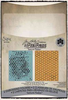 Tim Holtz / Sizzix - Texture Fades: Bubbles and Honeycomb - CHA Winter 2012