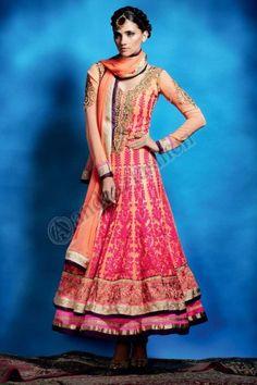 ORANGE GEORGETTE CHURIDAR SUIT. Price:- £109.00, Design No. DMV12733,  Quick Overview:- Dress Type:Churidar Suit, Fabric:Georgette, Colour:             Orange, Embellishments: Embroidered, Resham, Stone, Zari work. For More Details Visit @ http://www.andaazfashion.co.uk/salwar-kameez/anarkali-suits/orange-georgette-churidar-suit-dmv12733.html