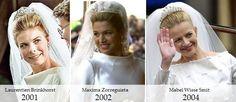 kaylaroyaltyfan:  Dutch Royal Weddings-Brides:  Beatrix's family-her daughters-in-law-Laurentien Brinkhorst-2001, Maxima Zorreguieta-2002, Mabel Wisse Smit-2004