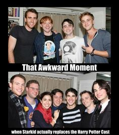hp and starkid cast backstage at how to  succed. oh this is awkward. but i just love them.