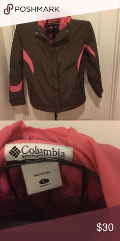 Columbia Jacket This brown and pink Columbia jacket is in excellent condition! It's great for fall! Columbia Jackets & Coats