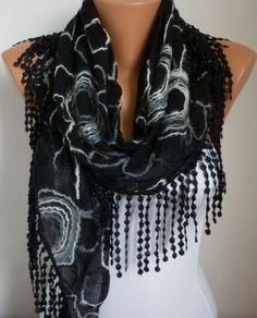 Black  Scarf - Scarves