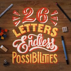 I created this piece originally as the Home Graphic on my website to represent all the possibilities and beauty that hand lettering has to offer.