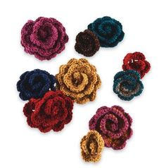 Crocheted Flowers. Looks like a wound up scallop, which is how I will attempt this...