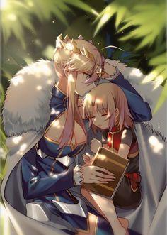 Arturia Lancer and Mordred