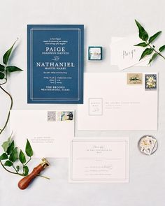 """Chic Gala"" wedding invitation design by Minted artist Kimberly FitzSimons. Gala Invitation, Wedding Invitation Design, Event Planning Design, Wedding Planning, Wedding Design Inspiration, Blue Wedding, Summer Wedding, Wedding Paper, Wedding Designs"