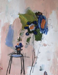 3 flowers small work on paper wendy mcwilliams