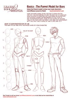 Learn Manga Basics: The Male Puppet by Naschi on deviantART