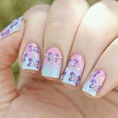lilla rosa sfumato spugnato farfalla
