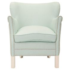 Mint armchair - yum! Sft & feminine!!!
