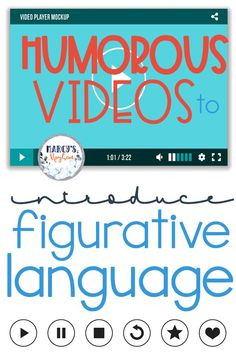 Your students can learn about figurative language with these videos geared towards kids and learning. Teach the student many different language styles. 6th Grade Reading, Middle School Reading, Middle School English, Middle School Grammar, Middle School Literature, Teaching Language Arts, Teaching Writing, Speech And Language, Language Activities