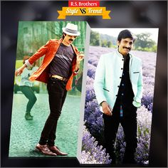 """#Style vs #Trendy South Indian Actor #RaviTeja in Trendy Outfits with Stylish Look & in other side with Beautiful Suit.  Which Outfit suits him best & looks Awesome? Present your interest in """"Like"""" for Casuals or """"Comment"""" for Trendy Outfits…. (Image copyrights belong to their respective owners)"""