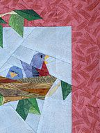Bluebird paper pieced pattern by Paper panache