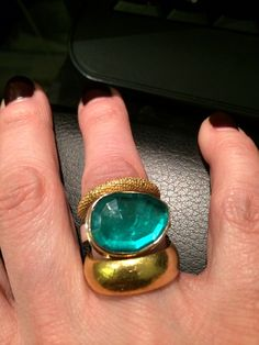 Niessing and emerald Jamie Joseph combo available at Quadrum- photo credits: www.instagram.com/jewelry_maven