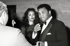 Muhammad Ali and his wife, Veronica (later divorced), in 1983 at Esquire magazine's 50th anniversary...