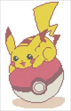 BOGO FREE! Pokemon Character Pikachu Videogame Anime Cross stitch pattern-pdf cross stitch pattern - pdf pattern instant download #225 by Rainbowstitchcross on Etsy
