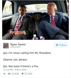 Same.  I will never refer to the Orange Anus as Mr. President.  Obama And Biden