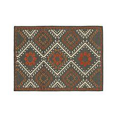 Bessie Charcoal Wool Dhurrie 4'x6' Rug