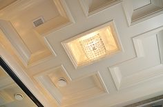 no need to stick with squares Bathroom coffered ceiling construction. | Flickr - Photo Sharing!
