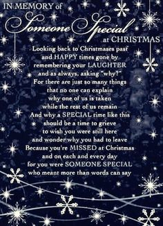 Missing you at Christmas poem