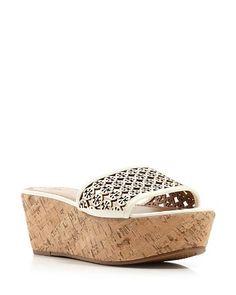 Tory Burch Open Toe Platform Slide Sandals - Elaine | Bloomingdale's