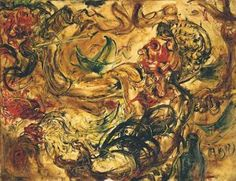 """Karya lukisan Affandi """"Drinking Tuak"""""""
