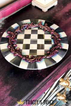 See how Tracey Bellion from Tracey's Fancy creates this whimsical plate as she teaches her skills to hundreds at the Dixie Belle conference Diamond Furniture, Whimsical Halloween, Gilding Wax, Fancy Words, Whimsical Painted Furniture, Paint Companies, Dixie Belle Paint, Charger Plates, Mold Making