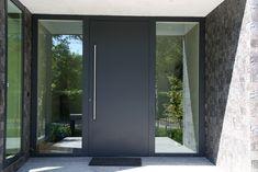 antraciete aluminium voordeur plano met alfa greep 120cm