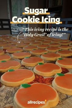 Icing Recipe, Frosting Recipes, Cookie Frosting Recipe, Sugar Cookie Icing, Sugar Cookie Decorating Icing, Pumpkin Sugar Cookies, Yummy Cookies, Cupcake Cookies, Cupcakes