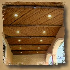 Ceiling ideas - thatch, bamboo or cork