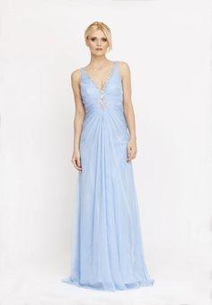 light blue evening dress