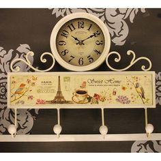 Askılık Metal Paris Dekorasyonlu Duvar Saati, Askılık Metal Paris Dekorasyonlu Duvar SaatiÜrün Bilgisi ;Ürün maddesi : MetalDekoratif ve şık ürünAskılık ve aynı zamanda duvar saatiSevdiklerinize