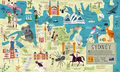 Journey to Sydney and many more of the world's best-loved cities in this illustrated book of maps, featuring best-loved people, places and cultural icons. 'City Atlas' by Martin Haake.