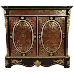 Antique Boulle and Tortoiseshell Pier Cabinet