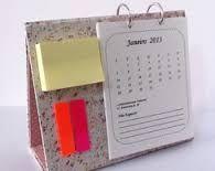 Resultado de imagem para calendario em cartonagem passo a passo
