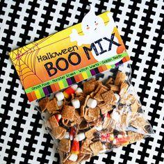 Halloween Boo Mix Bag Topper | Free Printable - Popsicle Blog