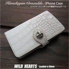 カスタマイズ 手帳型ケースSサイズ です。仕様と鱗模様、コンチョをお選びいただけます。 Iphone Flip Case, Iphone Cases, Crocodile, Continental Wallet, Silver, Himalayan, Leather, Gold, Men