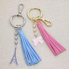 レシピNo.g400 タッセル付きカラビナバッグチャーム Resin Crafts, Jewelry Crafts, Handmade Jewelry, Tassel Keychain, Diy Keychain, Diy Tassel, Tassels, Leather Keyring, Diy Crystals