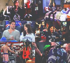 """How I Met Your Mother & The Vancouver Canucks.  """"Lily, if one of the Vancouver Canucks walked in here, my panties would drop so hard, there would be a hole in the floor half-way to China."""" - Robin Scherbatsky"""