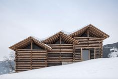 wood house, log cabin style... meck architekten, austria