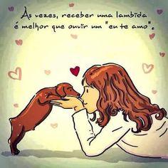 UMA LAMBIDA É UM EU TE AMO,NÉ? <3 <3 <3 #petmeupet #filhode4patas #lambeijo #cachorro #gato #maedecachorro #maedegato