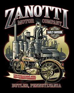 Harley-Davidson custom dealer backprints by John Lambert at Coroflot.com