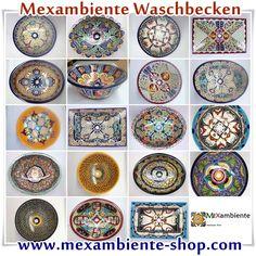 Mexikanische Waschbecken 2014 von Mexambiente - Bunte Waschbecken, handbemalte Waschbecken, Originelle Waschtische aus Mexiko www.mexambiente-shop.com